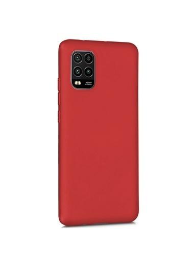 Microsonic Matte Silicone Xiaomi Mi 10 Lite Zoom Kılıf Kırmızı